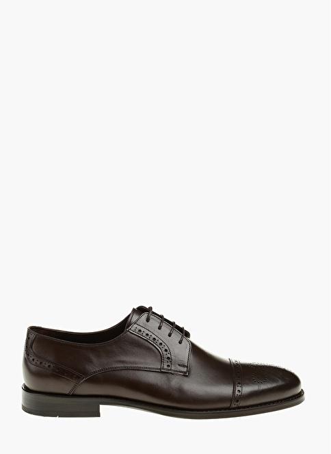 Network %100 Deri Bağcıklı Klasik Ayakkabı Kahve